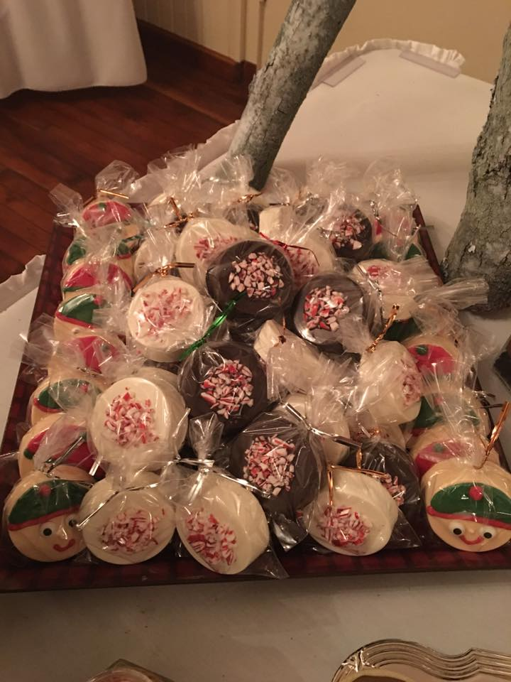 Packaged Christmas Chocolate-Dipped Cookies